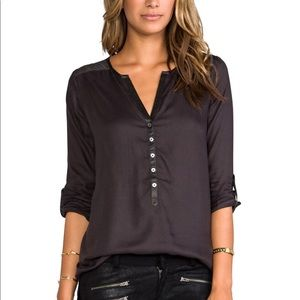 Soft Joie gray Rongo button up blouse